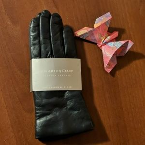 New Charter Club leather gloves